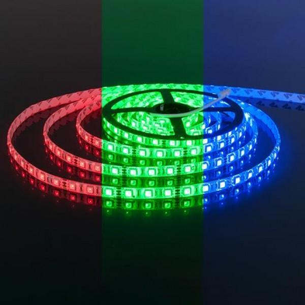 Светодиодная лента 12V 5050 RGB 60 светод./м 14.4W IP-68 1 метр