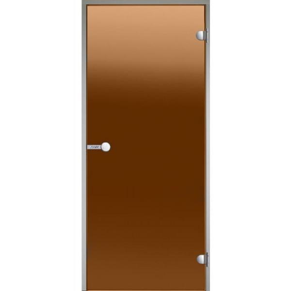 Дверь для турецкой бани HARVIA ALU DA71901 700х1900 бронза