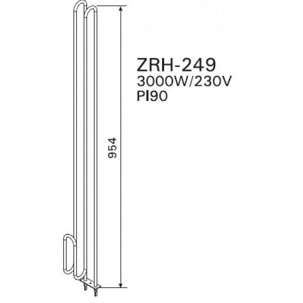 ZRH-249 ТЭН 3,0 KW (P170(E)