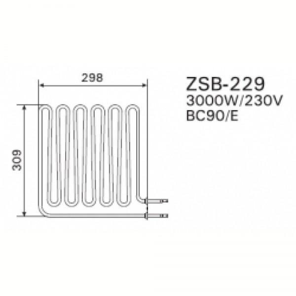 ZSB-229 ТЭН 3,0 KW (BC90; BC90E)