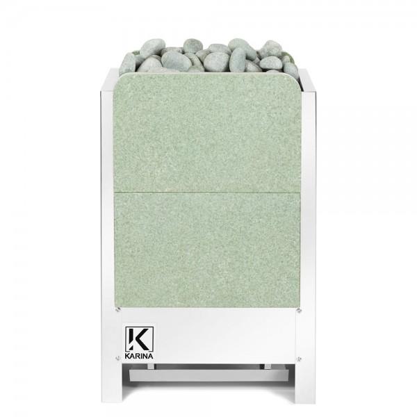 KARINA Люкс 10 кВт 380В в камне жадеит вертикальный