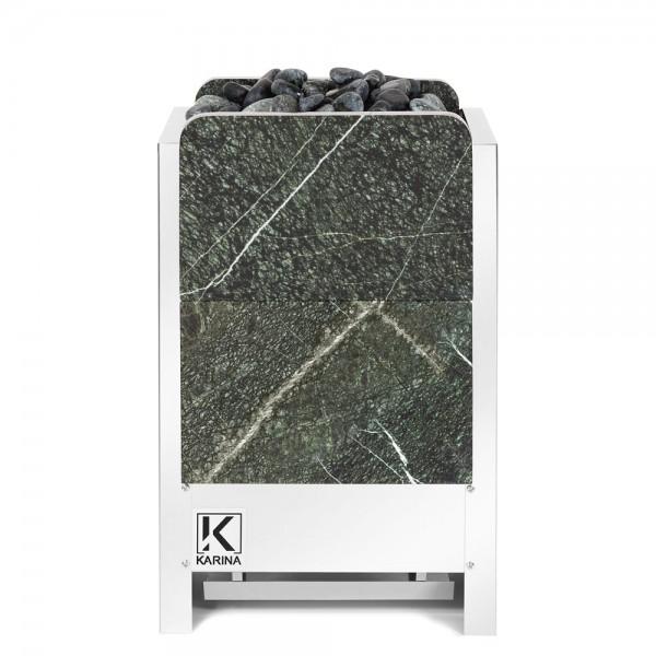 KARINA Люкс 10 кВт 380В в камне серпентинит вертикальный