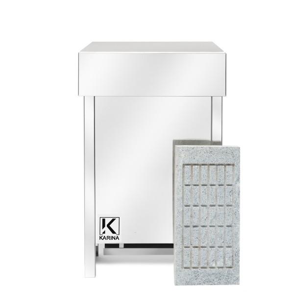 KARINA Люкс 10 кВт 380В в камне талькохлорит горизонтальный