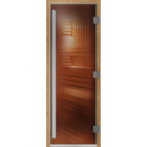 Дверь для сауны ПРЕСТИЖ  700 х 1900 бронза