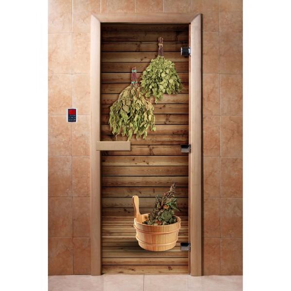 Дверь для саун с фотопечатью 700Х1900  (004)