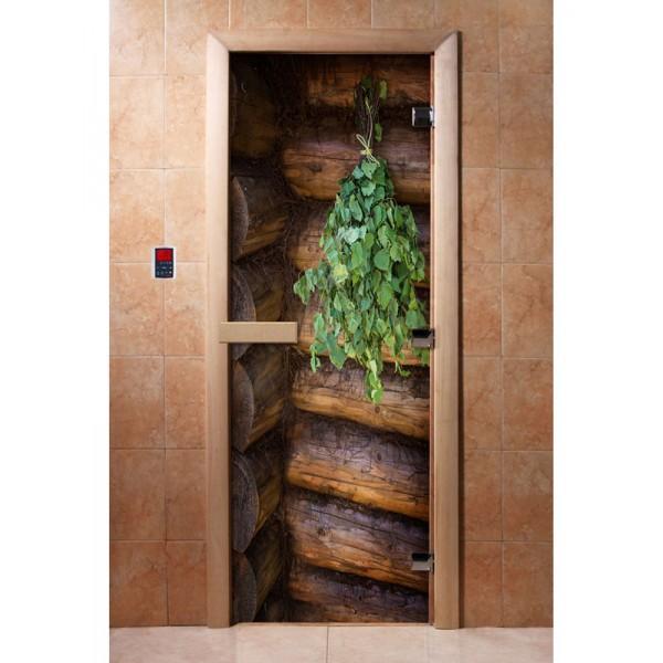 Дверь для саун с фотопечатью 700Х1900  (007)