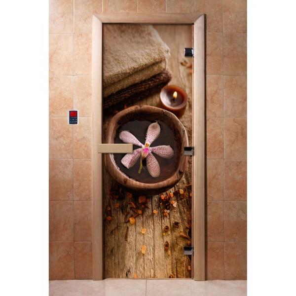 Дверь для саун с фотопечатью 700Х1900  (009)