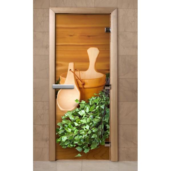 Дверь для саун с фотопечатью 700Х1900  (F201)