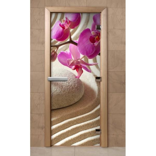 Дверь для сауны с фотопечатью 700х1900 (218)