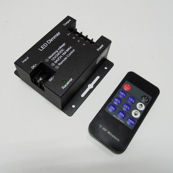 Диммер с радиопультом DT22 11 кнопок, DC12-24V,8A