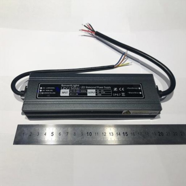 Блок питания 12V 150W 12.5A IP-67 герметичный