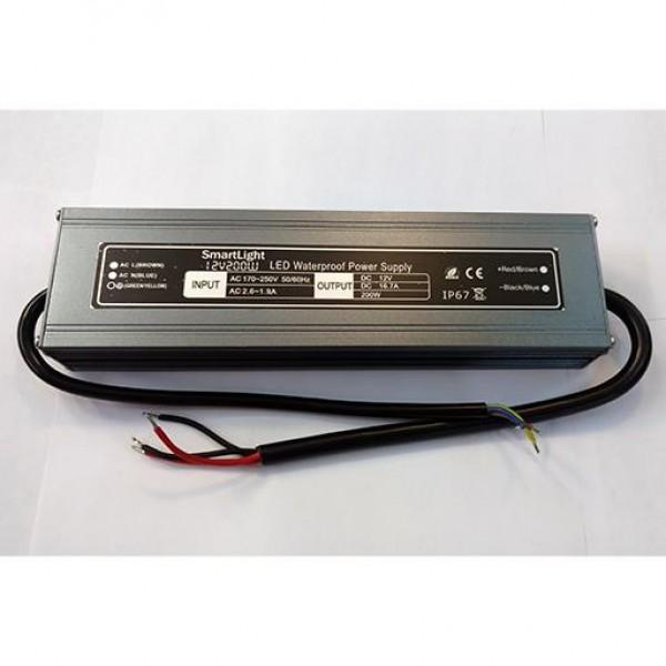 Блок питания 12V 200W 16.7A IP-67 SP-D AL герметичный