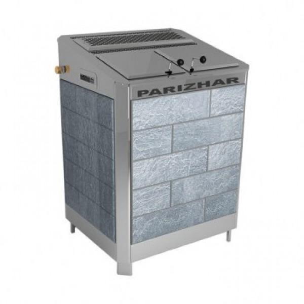 Электрическая паротермальная печь «ПАРиЖАР» 10 / 12 / 16 кВт (380 В) облицовка из природного камня