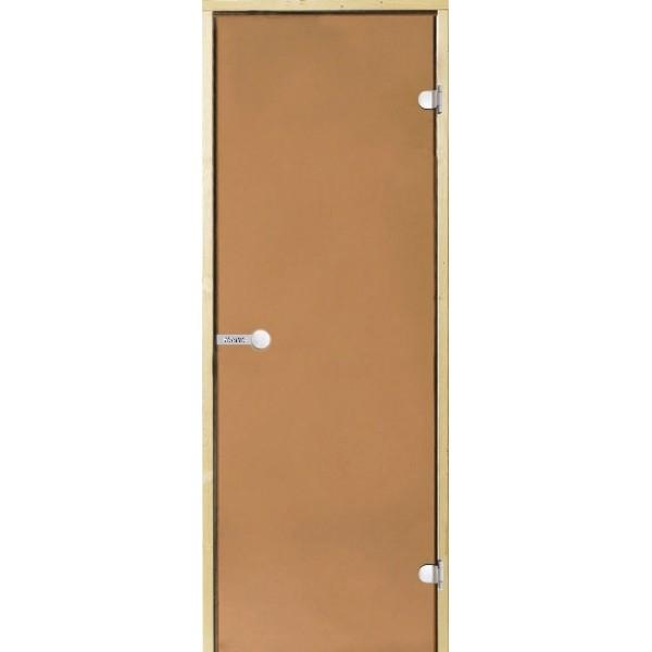 Дверь для сауны Harvia STG 7x19 ольха/бронза D71905L